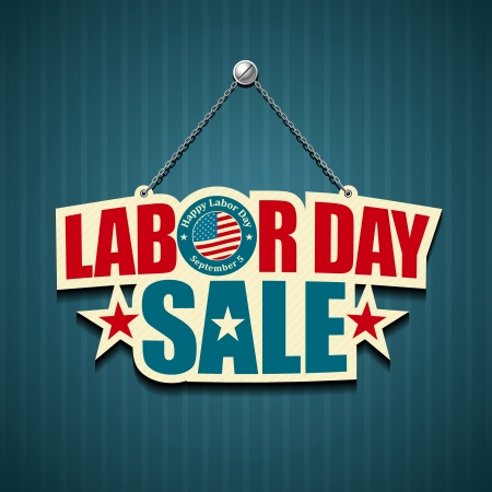 Labor day american  text signs  illustration Vectores