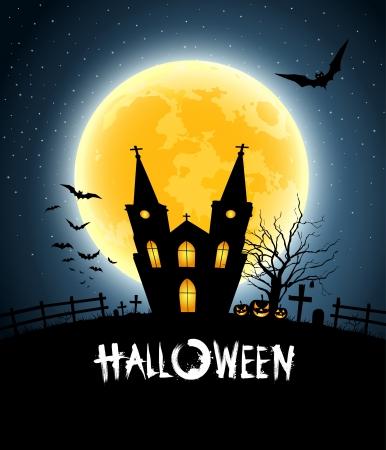 Halloween house party, illustration Vector