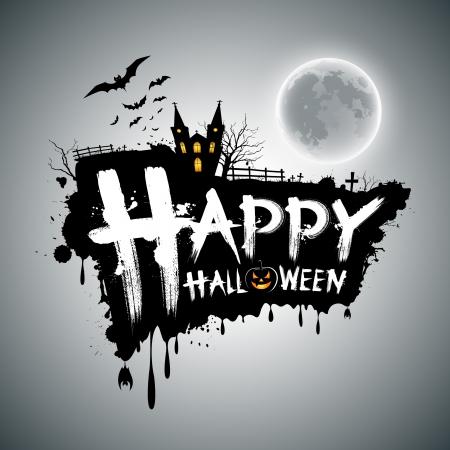 Happy Halloween message design, illustration Stock Vector - 15553264