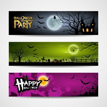 blood line: Halloween banners design background Illustration
