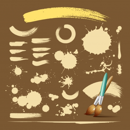 Paint brush vintage ink texture background Stock Vector - 15788039