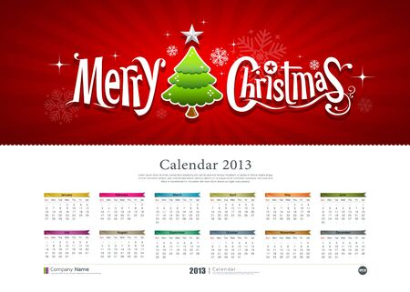 Calendar Merry Christmas background,  Stock Vector - 15884417