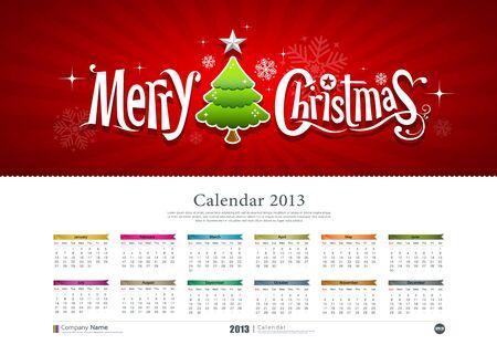 Calendar Merry Christmas background, Stock Vector - 15884417