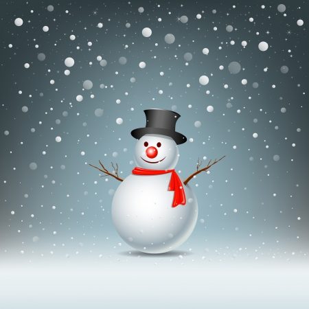 neige noel: Conception de bonhomme de neige, illustration vectorielle
