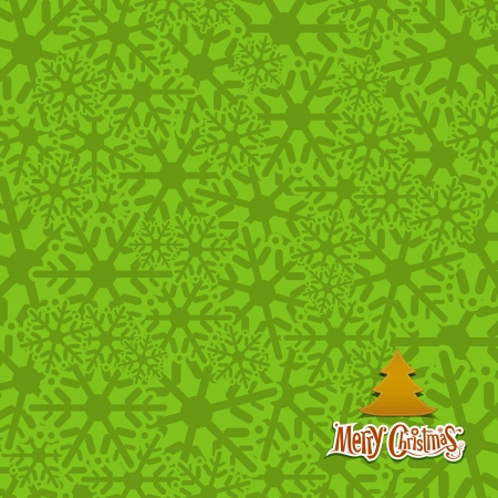 Snow flakes texture design green background Vector