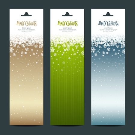 Merry Christmas banner vertical background, vector Stock Vector - 16164109