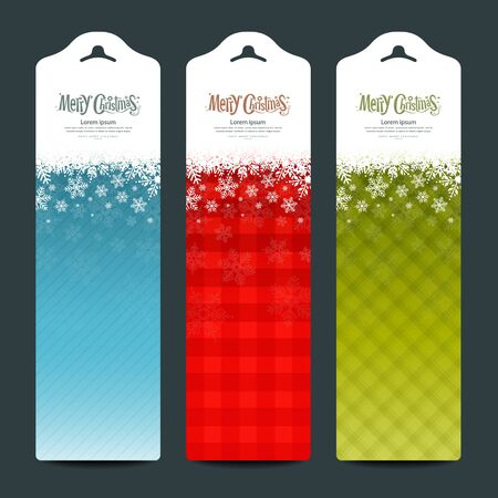 Merry Christmas background Vertical banner modern design, vector Ilustração