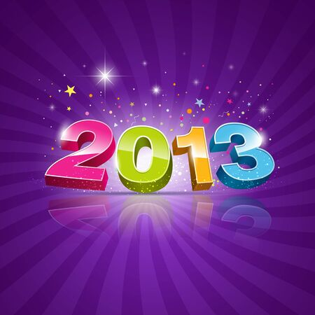 2013 Message colorful background, vector illustration
