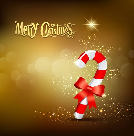 Merry Christmas stave red and white ribbon design Stock Vector - 16402279