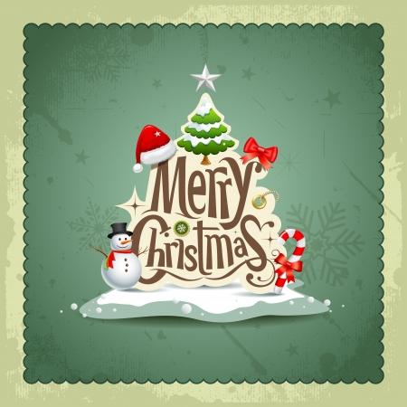 muerdago navideÃ?  Ã? Ã?±o: Merry Christmas vintage background diseño de tarjetas de felicitación