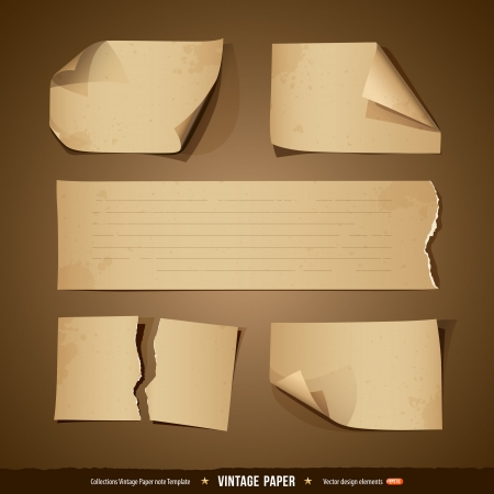 ripped paper: Vintage paper collections empty template