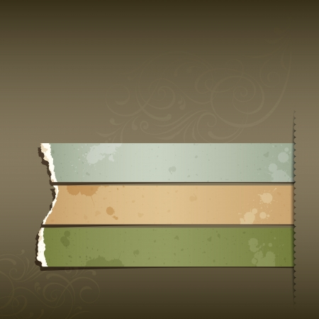 grungy background: Vintage Label Ripped paper design horizontal background