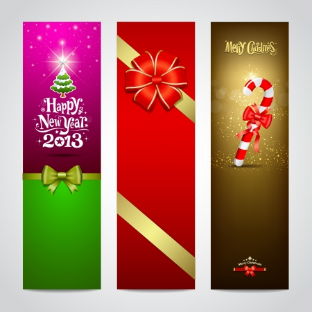 Happy New Year 2013 banner design collections Stock Vector - 16757271