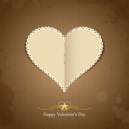 Happy Valentine day paper classic, vector Vector