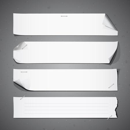 Colecciones de papel blanco largo