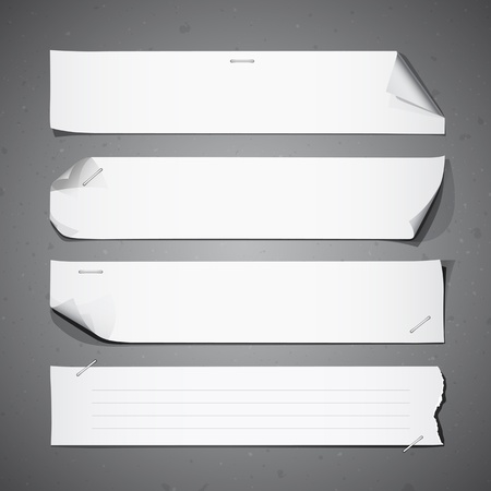 Collections de papier blanc longues