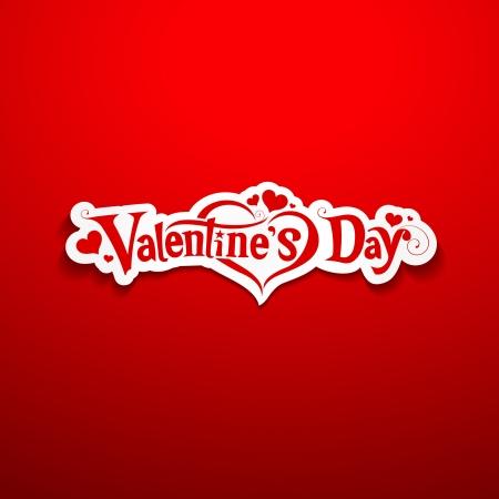 Happy Valentine Day lettering design Ilustração