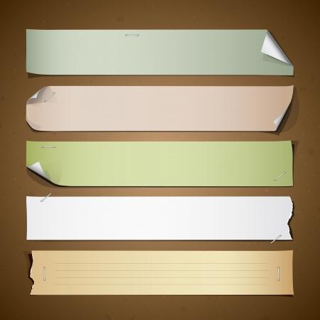 Vintage paper Long collections design