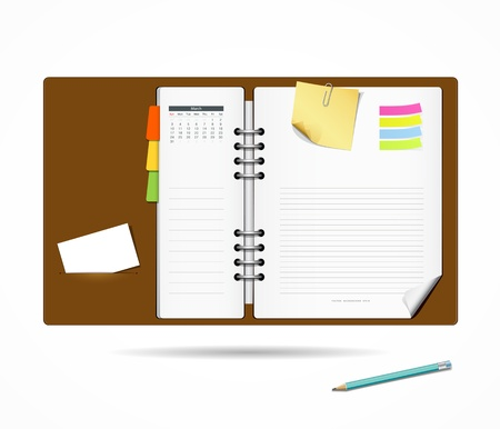 open diary: Diary note book modern design background
