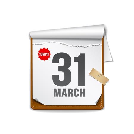 kalender: Papierkalander design background Illustration