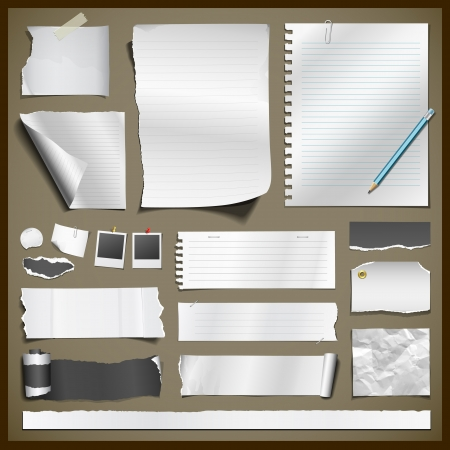 White paper and black paper collections for business Stock Vector - 18337793
