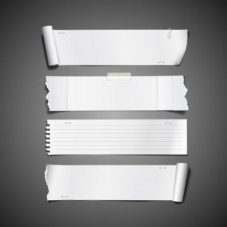 ecartel�: Blanc rouleau de papier d�chir� conception longs collections Illustration