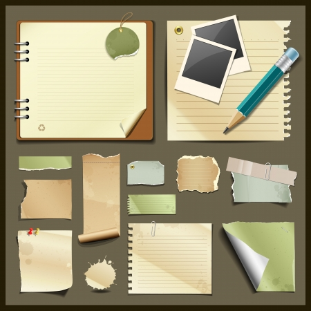 Vintage paper collections design background Stock Vector - 18555704