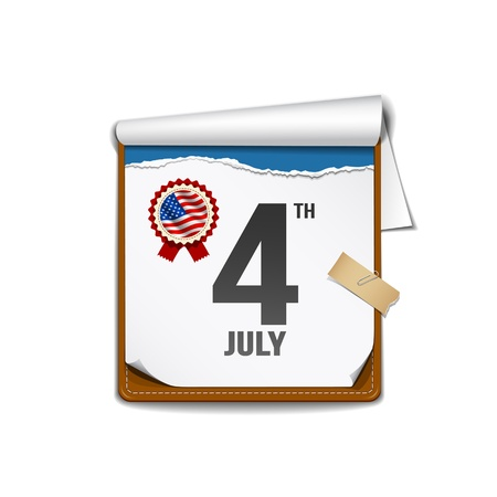Paper calender independence day American Stock Vector - 18984343