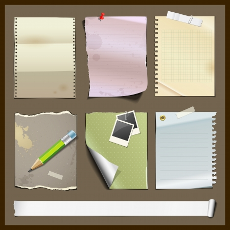 Paper collections design background Vector