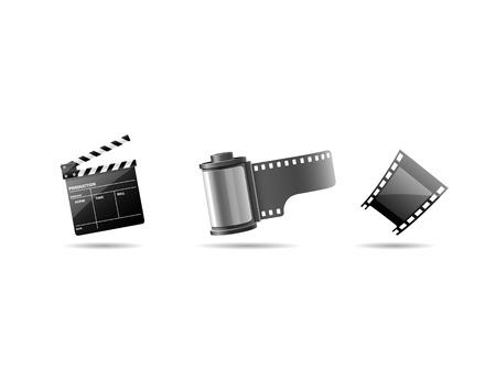 Multimedia icons, Camera film roll Stock Vector - 19350914