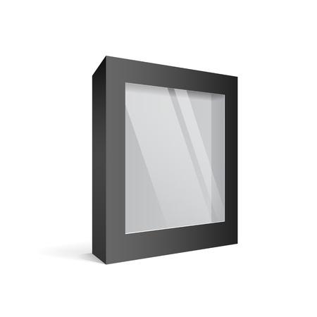 publicidad exterior: Paquete de software de cuadro de negro, ilustración Vectores