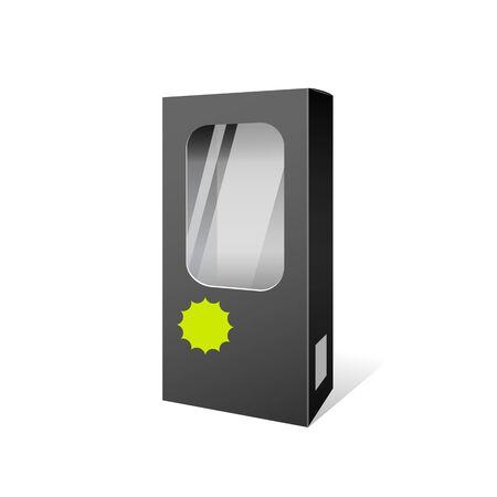 publicidad exterior: Productos Negro caja de diseño de paquete Vectores