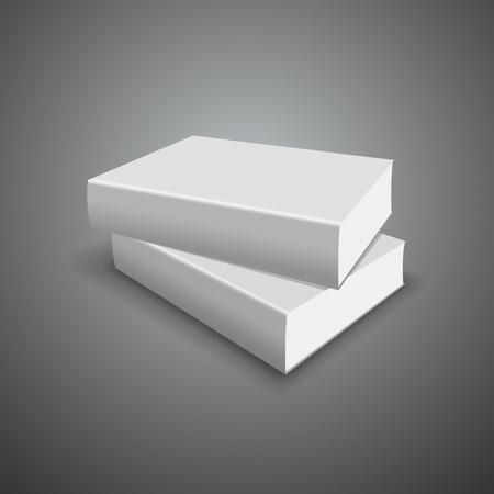 Cover white book empty template Stock Vector - 19506255