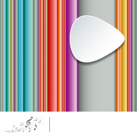 Striped colorful background and pick guitar music Stock Vector - 19684051