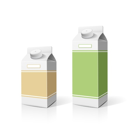 Colorful milk box packaging template background Vector