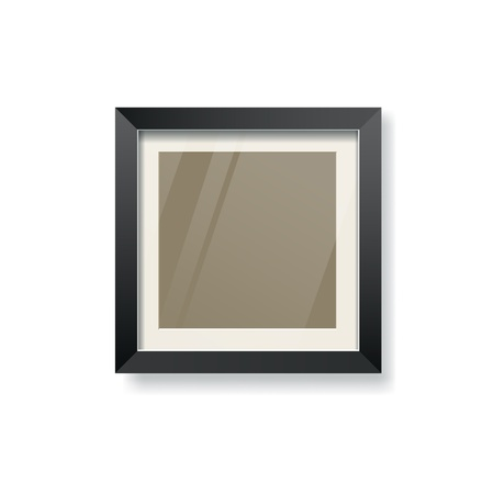 Modern black frame and glass empty, vector Vector