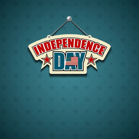 Independence day American signs star background Vector
