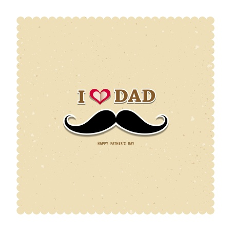 recycled paper: I Love My Dad on recycled paper background Illustration