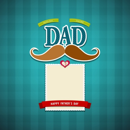 fathers day background: Happy fathers day greeting card background