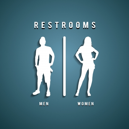 girl toilet: Restroom Signs illustration