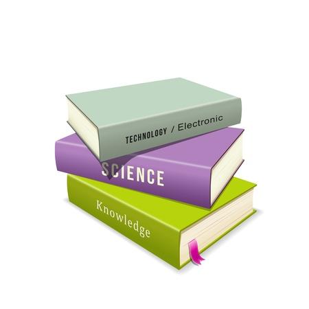 Colorful Books stack illustration