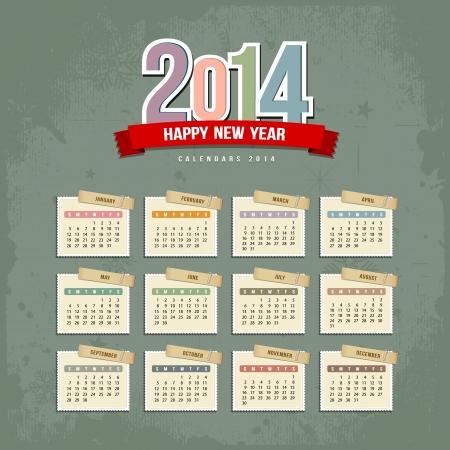 calendario noviembre: Calendario 2014 de papel ilustración de diseño