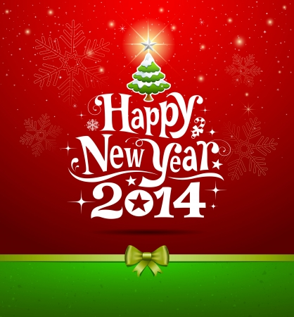 new years background: Happy New Year lettering Greeting Card