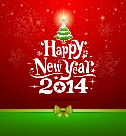 Lettrage Carte de voeux de bonne année