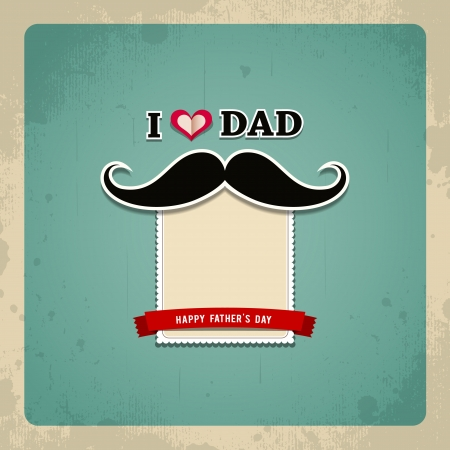 father: Happy fathers day vintage greeting card