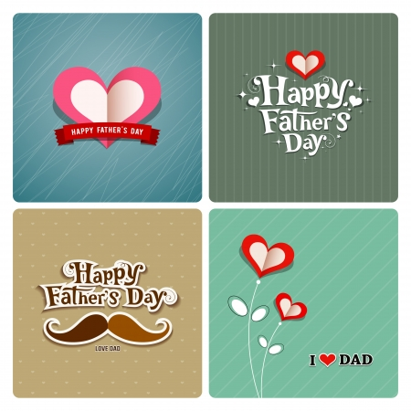 Happy fathers day, love dad collections Vector