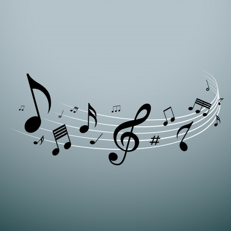 Musical notes design, vector illustration Vector