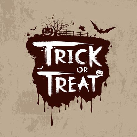 Halloween trick or treat message design Stock Vector - 22815655