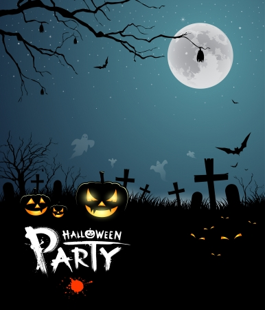 Halloween party scary design background Stock Vector - 23090934