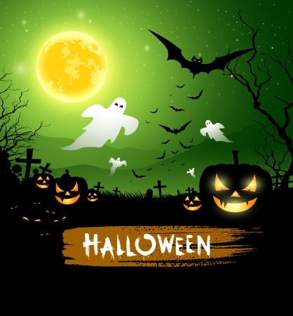 Halloween ghost design Vector